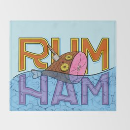 Rum Ham Throw Blanket