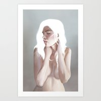 anxiety Art Prints featuring Anxiety by Tyler Revenant