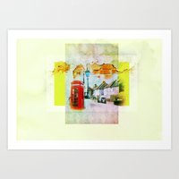 england Art Prints featuring England by Lora