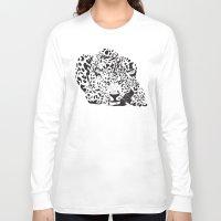 leopard Long Sleeve T-shirts featuring Leopard  by Karen Hischak