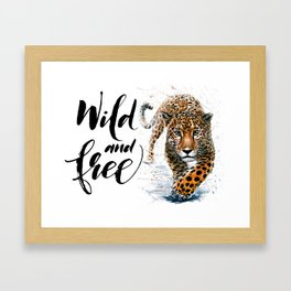 Leopard Wild and Free Framed Art Print