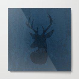 Blue Deer Design Metal Print