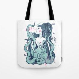 Octopus lady Tote Bag