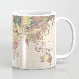 Vintage Geological Map of The World (1856) Coffee Mug