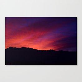SW Mountain Sunrise - 5 Canvas Print