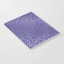 Periwinkle Berry Branches Notebook