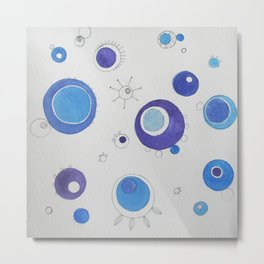 Space Bloom No.5 Metal Print