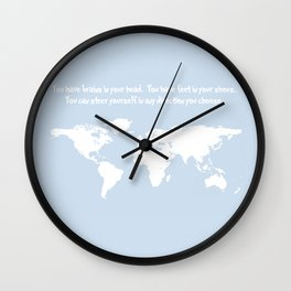 Dr. Seuss inspirational quote with earth outline Wall Clock
