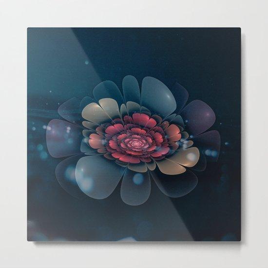 A Beautiful Fractal Flower Metal Print