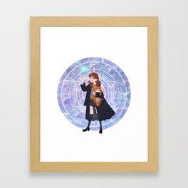 Magic Girl Framed Art Print