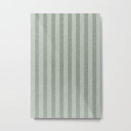 wynwood vertical stripes - sage Metal Print