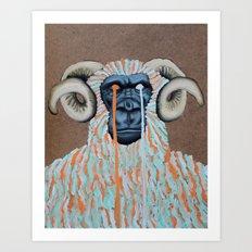 Gorilla Sweater Art Print