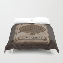 old razor ad Duvet Cover