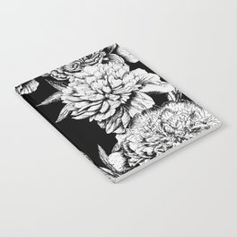 FLOWERS IN BLACK AND WHITE Notebook
