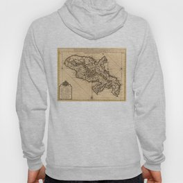 Vintage Map of Martinique Island (1742) 2 Hoody