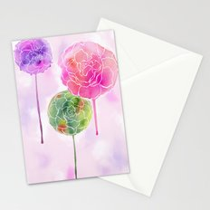 Succulent and Roses Stationery Cards