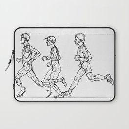 Transition through Triathlon Runners A Laptop Sleeve