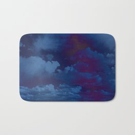 Clouds in a Stormy Blue Midnight Sky Bath Mat