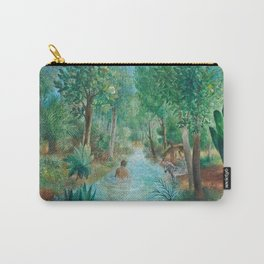 First Night Together in the Jardin e'Eden landscape painting by O. Sachoroff Carry-All Pouch
