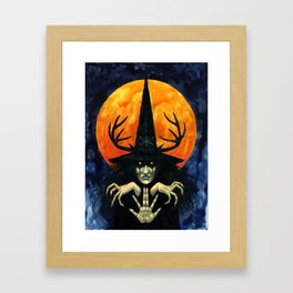Autumn Conjurer Framed Art Print