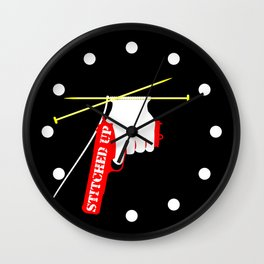 Stitched Up Wall Clock