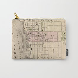 Vintage Map of Burlington Vermont (1873) Carry-All Pouch