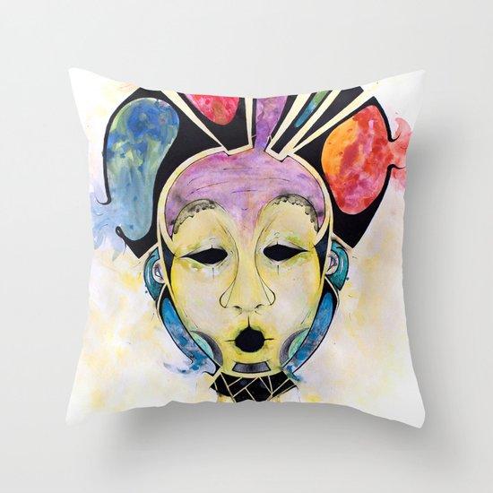 Veto's Mask Throw Pillow