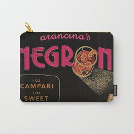 Pink Arancina's Negroni Campari Italian Sweet Vermouth with Gin Vintage Advertising Poster Carry-All Pouch