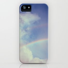 Dreamy Double Rainbow iPhone Case