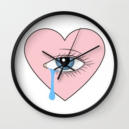 Cry Baby Wall Clock
