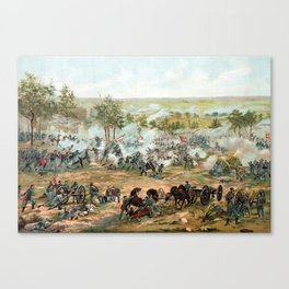 Battle Of Gettysburg -- American Civil War Canvas Print