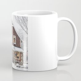 Classic Country Store Christmas Scene Coffee Mug