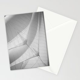Black and white sails - sailing- nautical photography  Stationery Cards