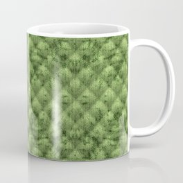 Quilted Bright Leaf Green Velvety Pattern Coffee Mug