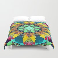 mandela Duvet Covers featuring Colour and Pattern Mandela by thea walstra
