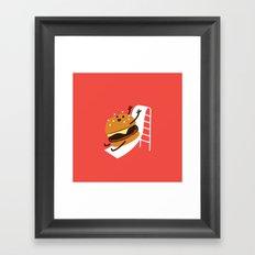 Slider Burger Framed Art Print