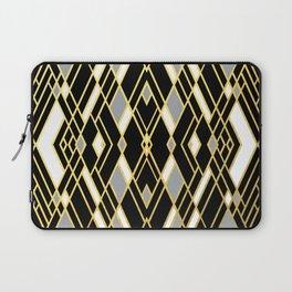 Art Deco Grey Gold Laptop Sleeve