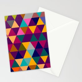 Multicolor triangle shapes pattern Stationery Cards