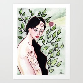 Mint Lady Art Print