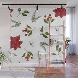 Get to the Poinsettia Wall Mural