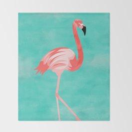 Flamingo Bird Throw Blanket