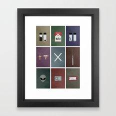 X-Files colors Framed Art Print