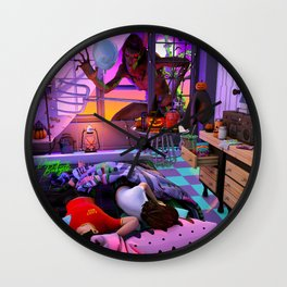 The Stranger Halloween Night Wall Clock