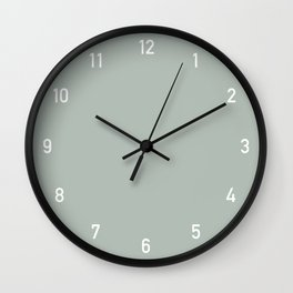 Numbers Clock - Ash Wall Clock