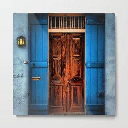 French Quarter Antique New Orleans Doorway Metal Print