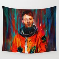 spaceman Wall Tapestries featuring Thom Yorke by nicebleed