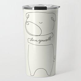 Love Yourself Pug Travel Mug
