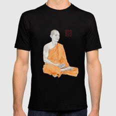 Buddha Mens Fitted Tee X-LARGE Black