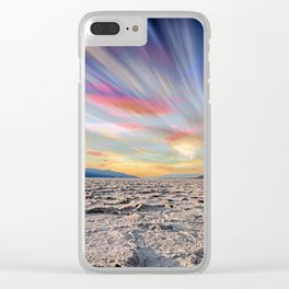 Stopping Time : Colorful Sky Landscape Clear iPhone Case
