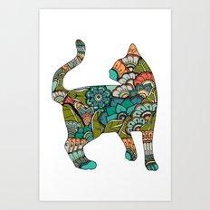 Vegetarian cat Art Print